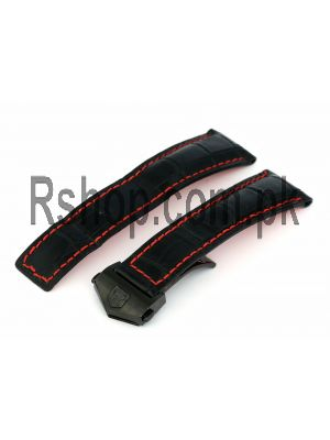 Tag Heuer Black Strap Stitching  Price in Pakistan