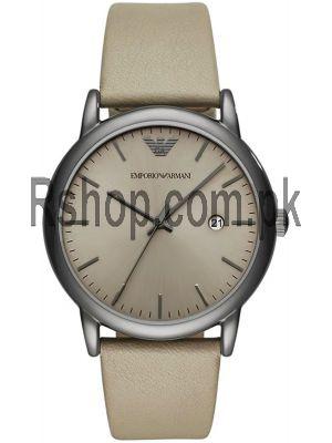 Emporio Armani AR11116 LUIGI Dress Leather Strap Grey Dial Men's Watch Price in Pakistan