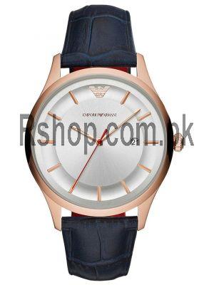Emporio Armani AR11131 Blue Leather Strap Steel Case Men's Watch Price in Pakistan