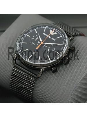 Emporio Armani Aviator Chronograph Black Watch Price in Pakistan