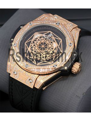 Hublot Big Bang Sang Bleu King Gold Diamond Watch Price in Pakistan