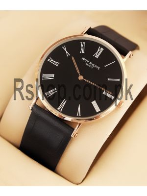 Patek Philippe Geneve Swiss Quartz Black Watch Price in Pakistan