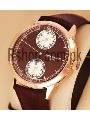 Patek Philippe Patek Philippe Annual Calendar Regulator Brown Leather Strap Men's Watch Price in Pakistan