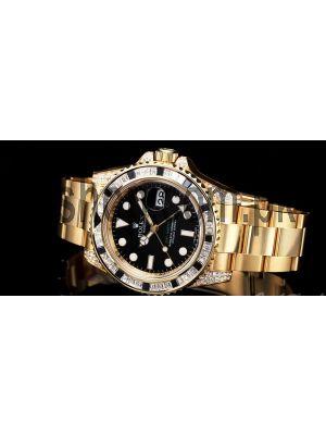 Rolex GMT Master II Yellow Gold Diamond Case Watch Price in Pakistan