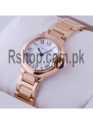 Cartier Ballon Bleu Rose Gold Small Ladies Watch Price in Pakistan